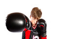 Young kickboxer Royalty Free Stock Photo