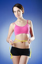 Young lady - dieting concept Stock Photo