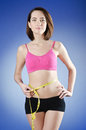 Young lady in dieting concept Stock Images