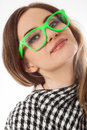 Young lady in glasses Royalty Free Stock Photos