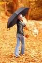 Young lady with umbrella Royalty Free Stock Photo