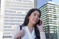 Young Latin professional woman on the phone Royalty Free Stock Photo