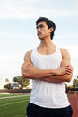 Young latino male athlete Royalty Free Stock Photo