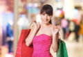 Young lovely woman with shopping bags picture of Stock Photo