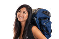 Young Malaysian backpacker Royalty Free Stock Images