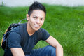 Young male asian student Stock Images