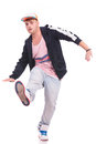 Young male dancer balancing Royalty Free Stock Photo