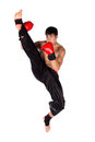 Young male kickboxer Royalty Free Stock Photo