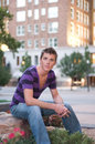 Young Male Model Subordinate Royalty Free Stock Image