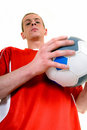 Young male soccer player Royalty Free Stock Image