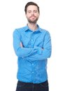 Young male standing with arms crossed Royalty Free Stock Photo