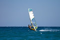 Young male windsurfer in action Stock Photos