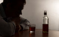 A young man alcohol abuse