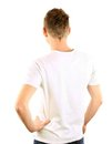 Young man from the back, isolated Stock Photography