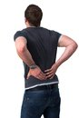 Young Man with back pain Royalty Free Stock Photography