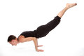 Young man doing yoga Royalty Free Stock Photo