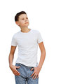 The young man dreams Royalty Free Stock Photo