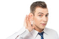Young man executive listening Royalty Free Stock Photo