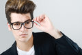 Young man with eyeglasses Royalty Free Stock Photo