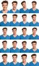 Young Man Face Expressions Com...