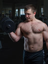 Young man at the gym Royalty Free Stock Photo