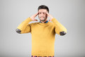Young man with headache Royalty Free Stock Photo
