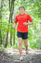 Young man for a jog Royalty Free Stock Images