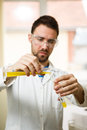 Young man in the lab Royalty Free Stock Photo
