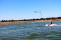 Young man out for a wakeboard at the Perth wake park Royalty Free Stock Photo