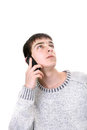 Young man with phone Stock Photography