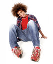 Young man portrait particular style urban style Stock Photography