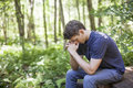 Young man in prayer Royalty Free Stock Photo