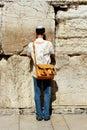 Ebraico giovane uomo da lamenti muro