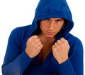 Young man ready to fight Stock Image