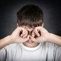 Young Man rub the Eyes Royalty Free Stock Photo