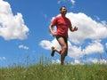 Giovane uomo corsa