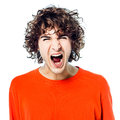 Young man screaming angry portrait Royalty Free Stock Images