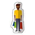 Young man with shopping bag