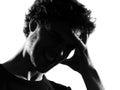 Young Man Silhouette Headache ...