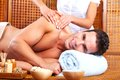 Young man in spa massage salon relax Royalty Free Stock Photos