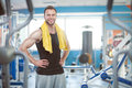 Young man in sport gym club Royalty Free Stock Photo