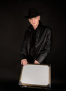 Young man with suitcase Royalty Free Stock Photo