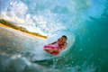 Young man surfing Royalty Free Stock Photography