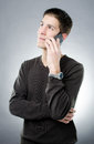 Young man talking on mobile phone Royalty Free Stock Images
