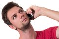 Young Man talking on the phone Royalty Free Stock Photography