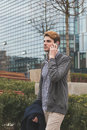 Young man talking on phone Royalty Free Stock Photo