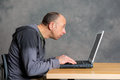 Young man using computer Royalty Free Stock Photo