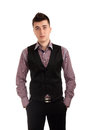 Young man in a vest Royalty Free Stock Photos