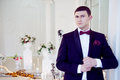 Young man at the wedding, the groom Royalty Free Stock Photo