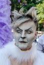 Young man with wings at gay pride parade Sao Paulo